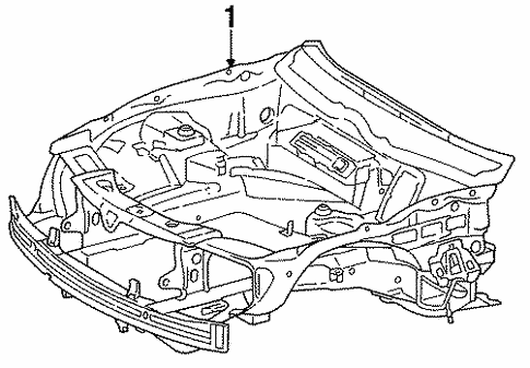 Inner Structure for 1994 Mercedes-Benz S 420 #0