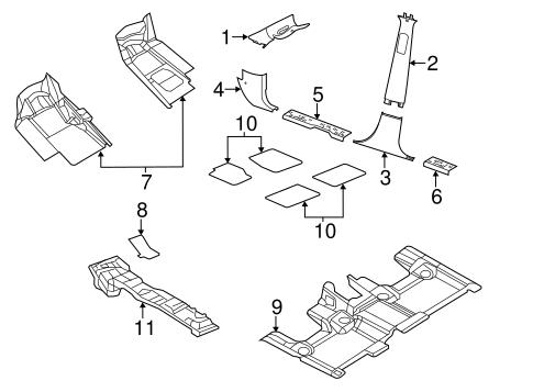 Interior Trim Pillars Scat