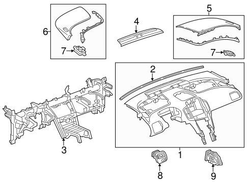 Instrument Panel For 2015 Chevrolet Volt