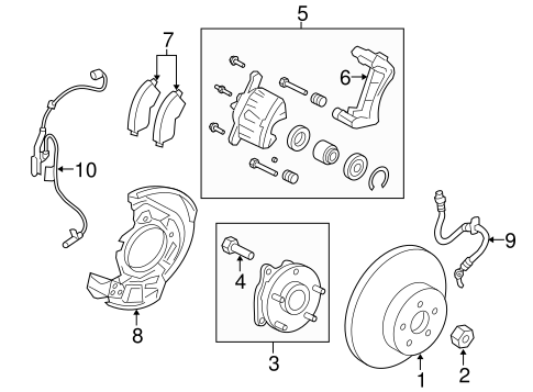 BRAKES/BRAKE COMPONENTS for 2016 Toyota RAV4 #1