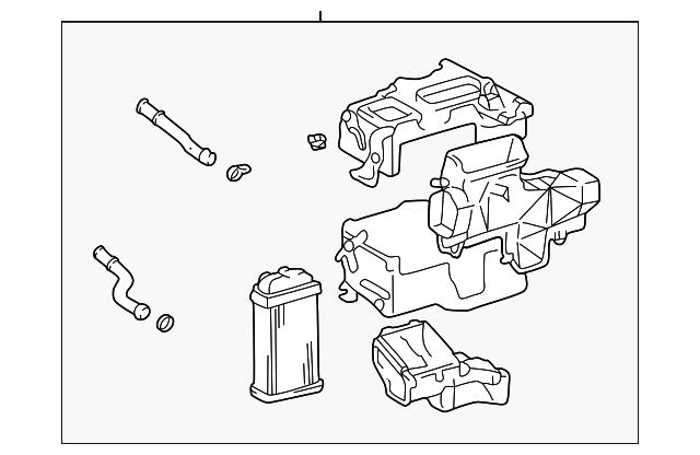 2000 2002 Toyota Tundra Heater Assembly 87150 0c011