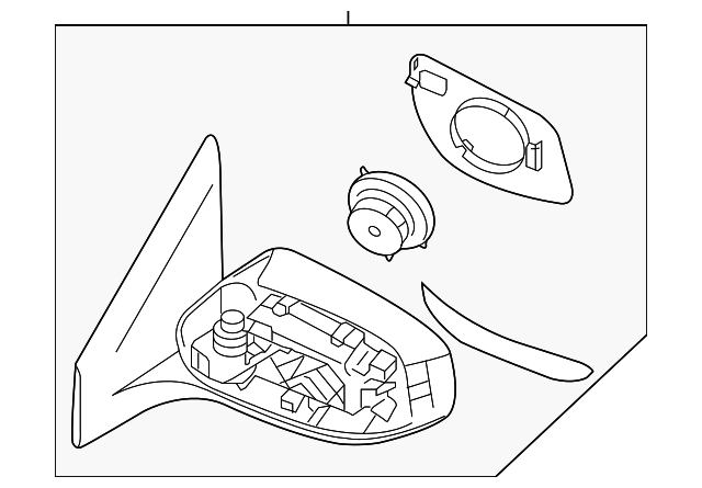 Mirror Assembly Nissan 96302 3yu2f Courtesy Parts