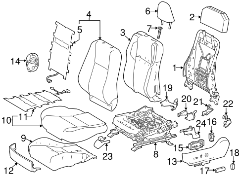 BODY/DRIVER SEAT COMPONENTS for 2015 Toyota RAV4 #2