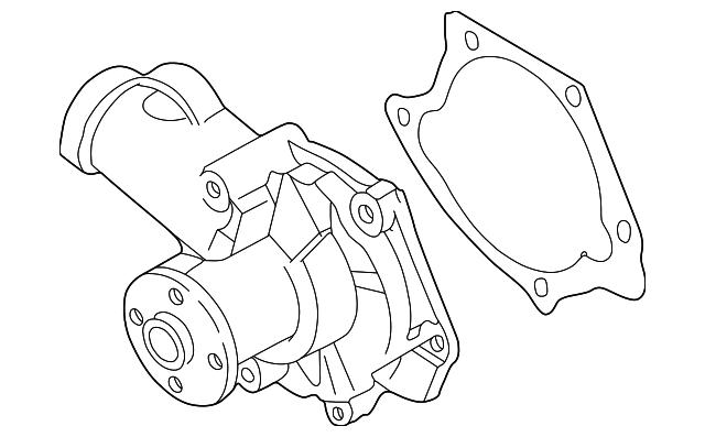 Mitsubishi Water Pump Assembly 1300a066