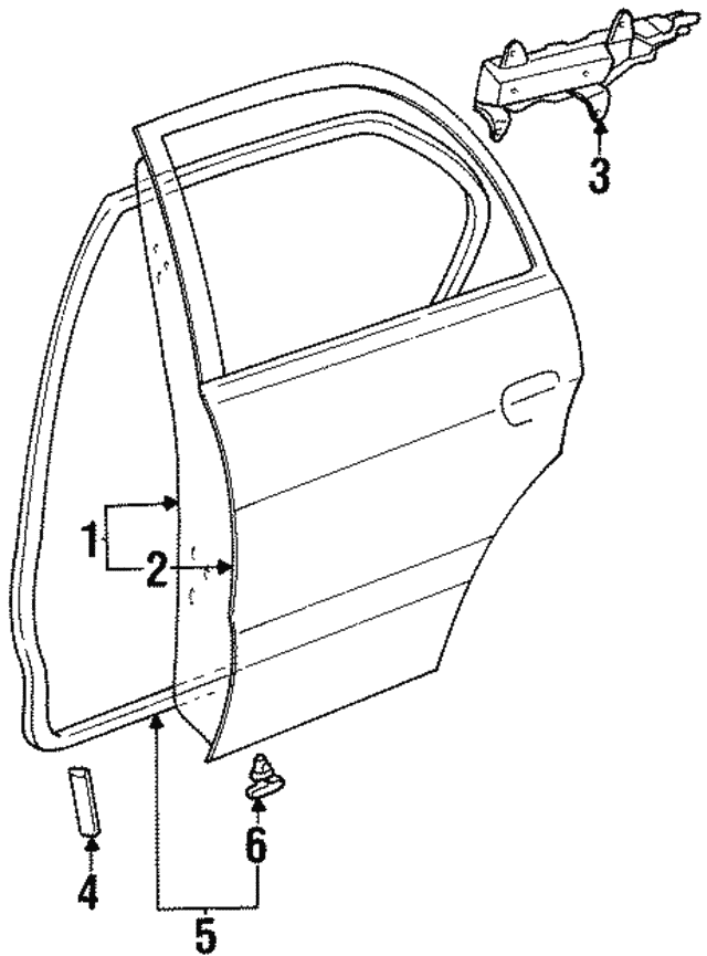 1995 1997 Toyota Tercel Door Shell 67004 16260