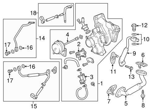 turbocharger & components for 2015 buick regal | gm parts online  gm parts online