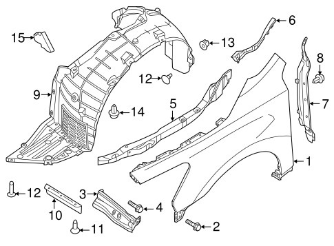 Fender & Components for 2013 Nissan Altima | Ricar Parts