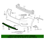 Garnish Assembly, Rear Bumper (Lower) - Honda (71510-TBA-A50)