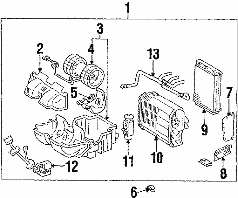 Air Bag Components for 1995 Mercedes-Benz E 320 #0