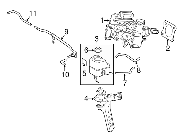 2012 2014 Toyota Camry Master Cylinder 47050 33112