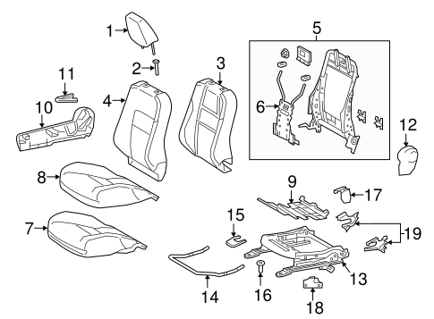 BODY/PASSENGER SEAT COMPONENTS for 2016 Scion iM #1