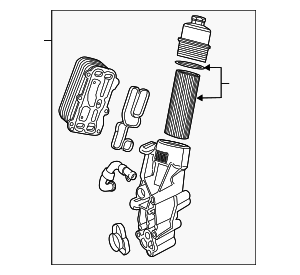 Oil Filter Housing - Mercedes-Benz (133-180-02-10)