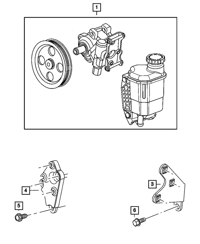 1980/'s Chrysler Dodge USED power steering pump pulley 4343951