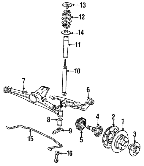 Rear Suspension for 1991 BMW 325i #1