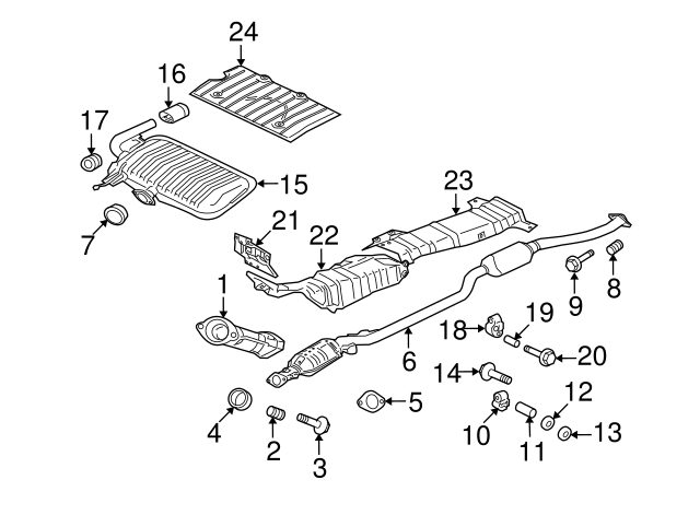 Exhaust Muffler Mitsubishi 1571A915