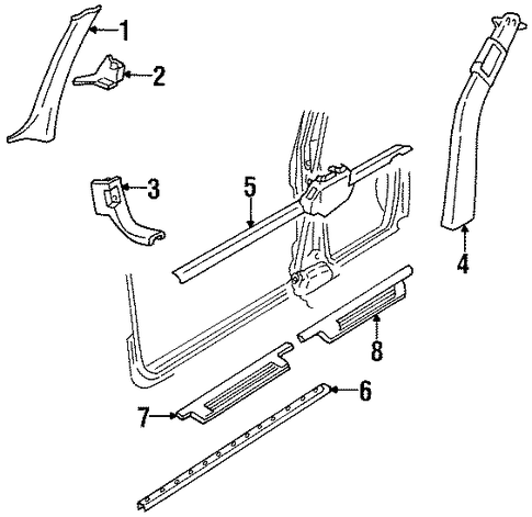 455 Oldsmobile Engine Diagram moreover 88 S10 Wiring Diagram further Gm Center Pillar Trim 16653193 likewise T5566147 Need tom locate likewise 2001 2002 Gmc Sierra 2500 Hd Wiper Motor Connector 88988741. on buick regency