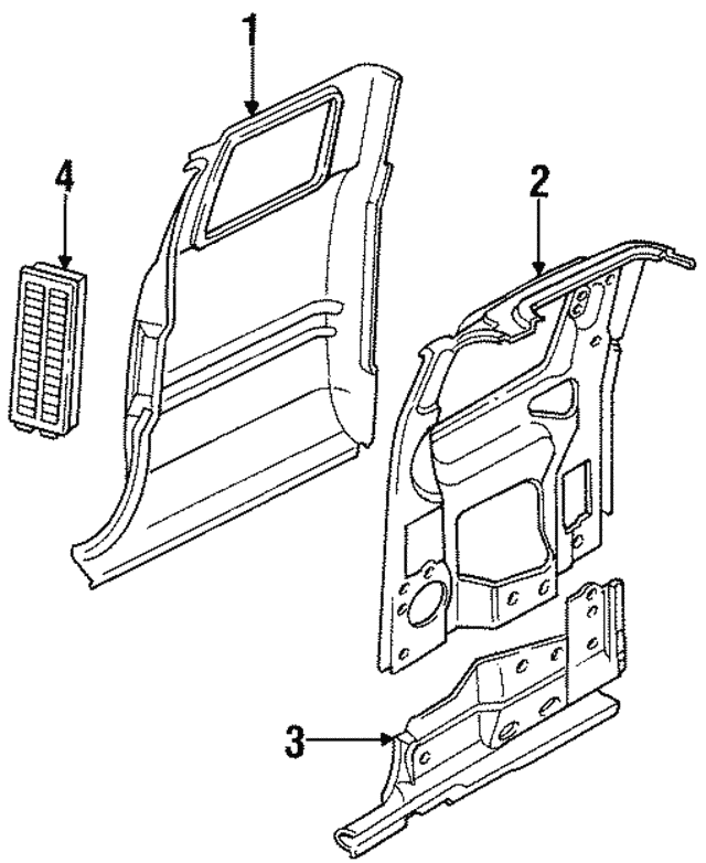 1998 Dodge Inner Panel 55275269