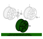 Wheel, Alloy - GM (95024486)