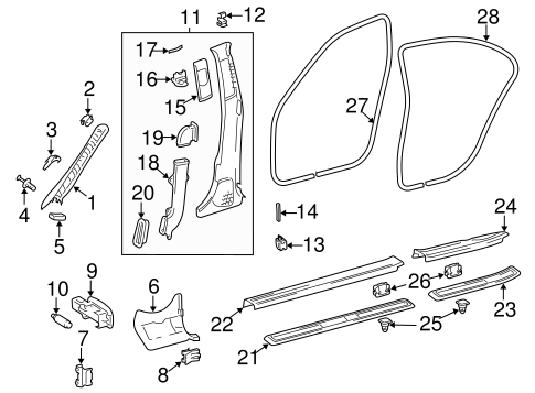 Interior Trim - Pillars for 2009 Mercedes-Benz E 320 #0