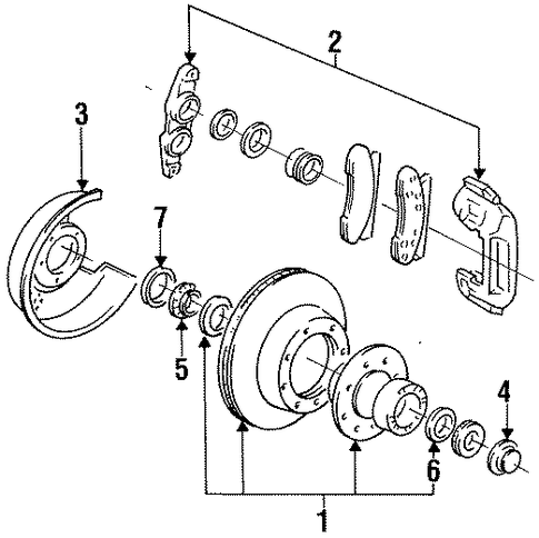Brakes/Front Brakes for 1997 Ford F-350 #2