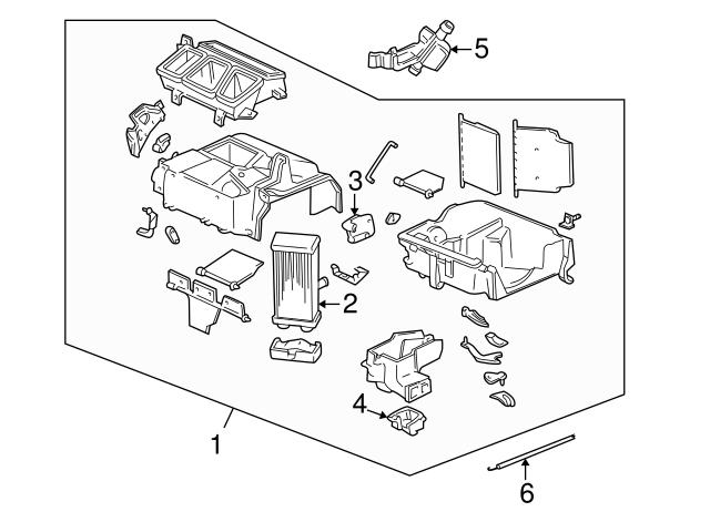 1997 1998 Honda Cr V 5 Door Core Heater 79110 S10 A01