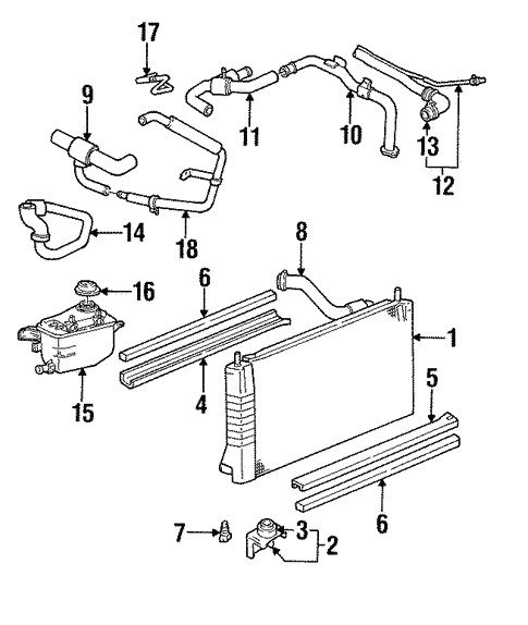 Radiator Components For 1999 Mercury Sable