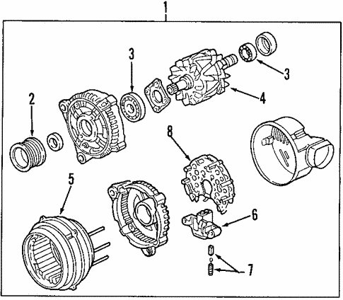 Alternator for 1999 Cadillac Catera #0