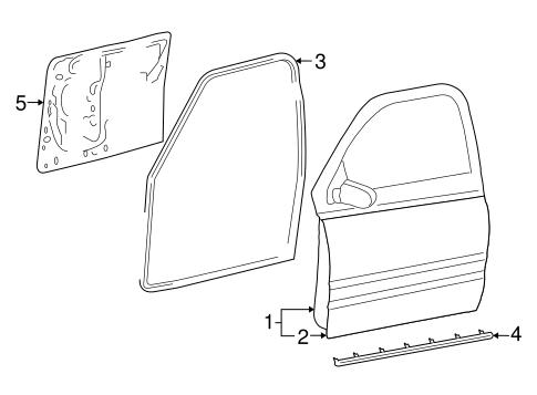 Door Components For 2008 Dodge Ram 1500