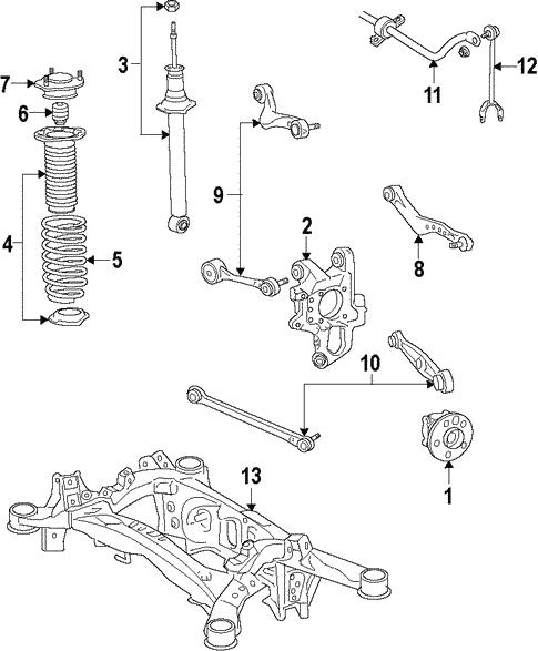 rear suspension for 2010 lexus ls460