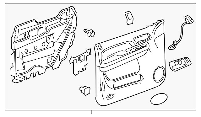 door trim panel  left