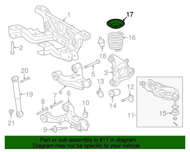 Toyota 48257-0C011 Suspension Coil Spring Insulator