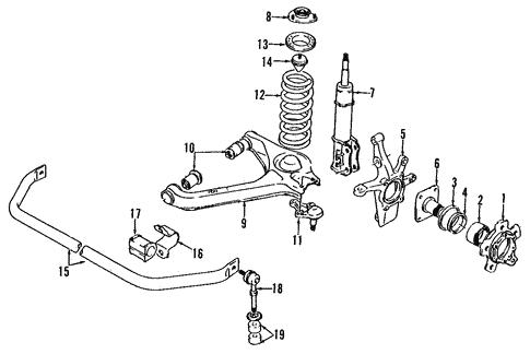 geo tracker front axle diagram