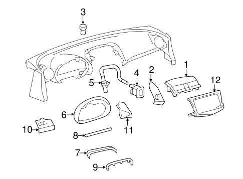 Instrument Panel Components for 2012 Toyota RAV4 #1
