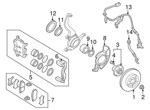 Brake Components For 2002 Mazda Millenia