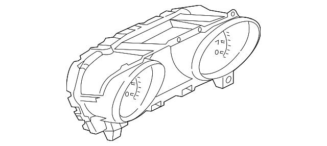 2017 2019 Jaguar F Pace Instrument Cluster T4a1887