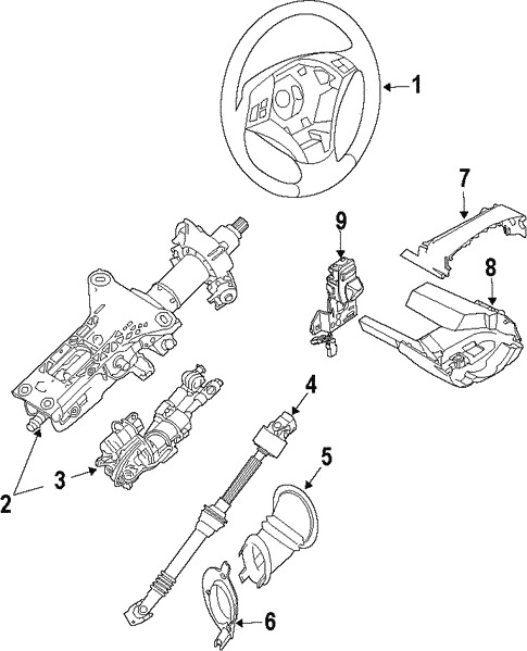 Steering Column For 2010 Bmw 535i