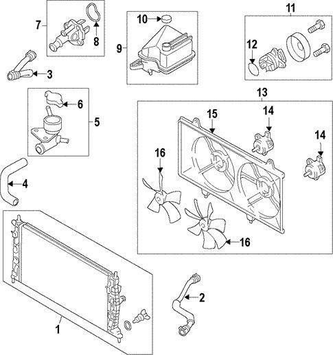 Mazda LFFM-15-140 Engine Cooling Fan Blade
