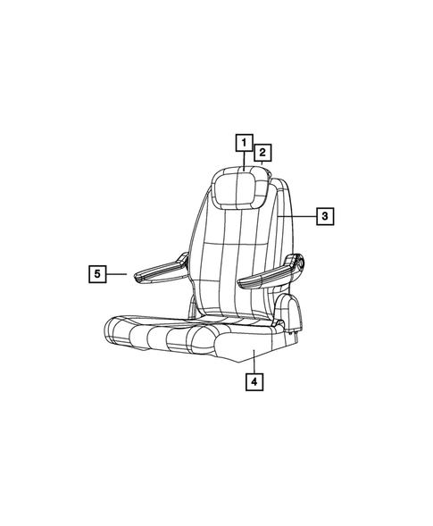 Rear Seats - Second Row for 2013 Chrysler Town & Country #4