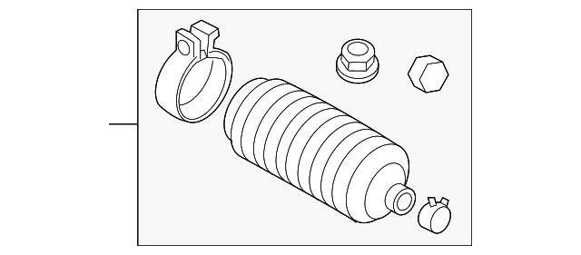 genuine volvo tie rod boot 31406473