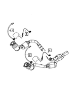 Oxygen Sensor, After Catalyst, Right - Mopar (5149169AA)