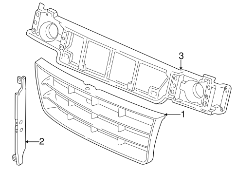 Body/Grille & Components for 2004 Ford E-250 #1
