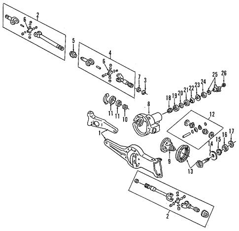 Mazda ZZL0-27-222 Differential Pinion Race