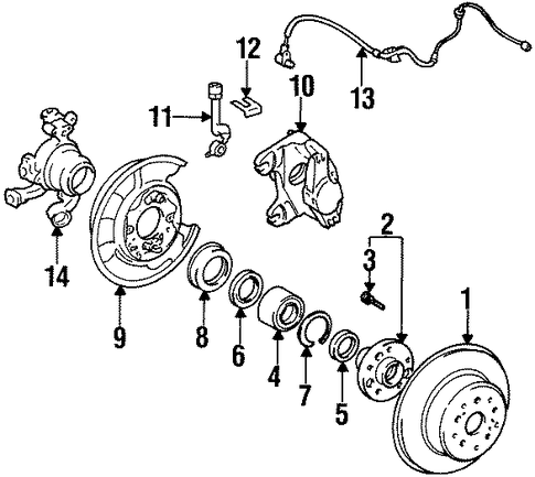 BRAKES/REAR BRAKES for 1996 Toyota Supra #1