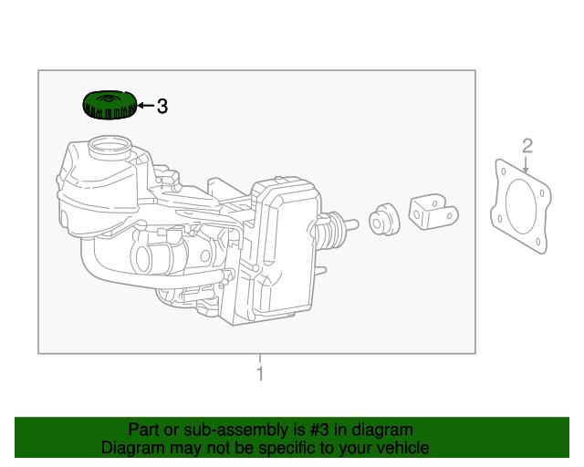 Genuine Toyota 47230-24010 Brake Master Cylinder Reservoir