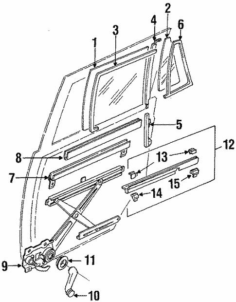 Toyota 68780-20040 Rear Door Hinge Assembly