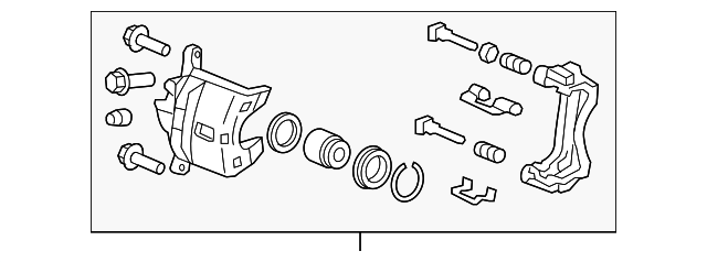 Caliper Sub-Assembly, L Front