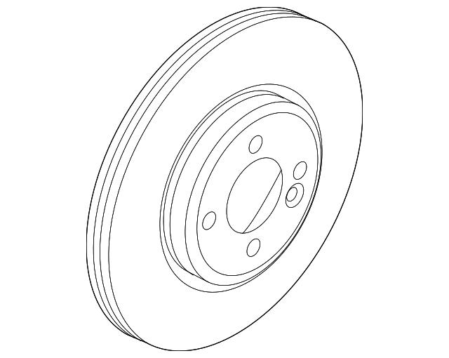 Genuine Mini Rotor 34 11 6 865 713