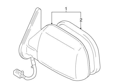 Genuine Toyota 87910-35380-D2 Rear View Mirror Assembly
