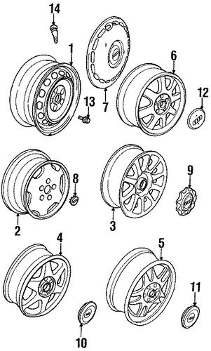 center cap - silver - audi rings
