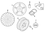 Wheel, Alloy - Nissan (40300-3NF2E)